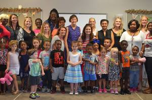 Emmy Award winning actress visits Pike View Early Childhood Center